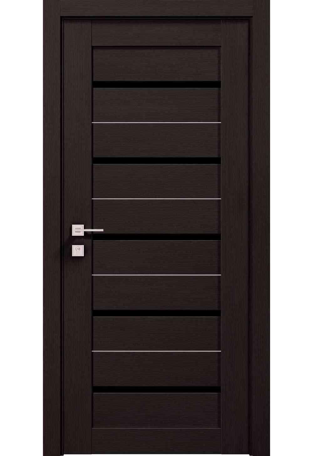 Купити Двері міжкімнатні RODOS MODERN Lazio BLK півскло /Графіт/, 800x2000